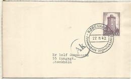 DINAMARCA CC 1942 A SUECIA CON CENSURA MILITAR ALEMANA AK DE COPENAGUE - Lettere