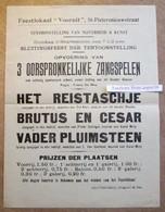 """Feestlokaal """"Vooruit"""" St-Pietersnieuwstraat, Gent, Opvoering Van 3 Oorspronkelijke Zangspelen - Collezioni"""