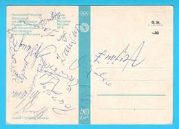Yugoslav Handball Team GOLD MEDAL On OLYMPIC GAMES 1972 - Orig. Autographs * Autograph Autographe Autographes Autogramme - Autografi