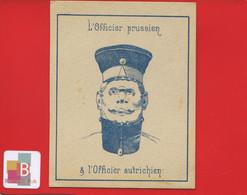 CHROMO Devinette Magie Biface Tete Beche Militaire Officier Prussien Autrichien Prusse Autriche - Sonstige