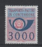 (SA0867) ITALY, 1984 (Parcel Post Authorized Delivery Stamp. 3000 L.). Mi # PP22. MNH** Stamp - Postal Parcels