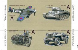 Ceska Tchequie Czech Republic 2015  Spitfire Mk  IXE  Tank T-34/76.2, Motorcycle Harley-Davidson, Jeep Ford GPW - Seconda Guerra Mondiale
