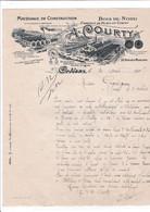 45-A.Courty....Matériaux De Construction, Bois Du Nord...Orléans..(Loiret)....1907 - Altri