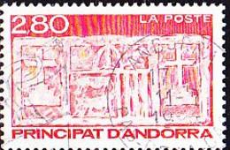 Andorra [franz.] - Wappen (Steinrelief) Am Alten Rathaus (Mi.Nr.: 457) 1993 - Gest. Used Obl. - Used Stamps