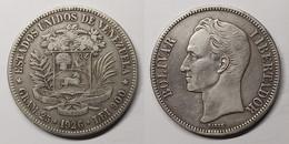 Venezuela 5 Bolívares 1926 Y# 24.2 United States Of Venezuela (1879 - 1952) - Venezuela