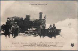 Saint Agrève , Locomotive Chasse Neige De La Cie Des Chemins De Fer Départementaux , Animée - Saint Agrève