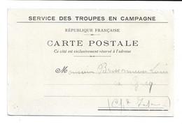 CARTE POSTALE MILITAIRE - TROUPES EN CAMPAGNE - FRANCHISE MILITAIRE  - GUERRE14/18 - => LE GICQ (CHARENTE MARITIME) - Lettere In Franchigia Militare