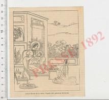 Gravure 1892 Cakya Mouni Et Sa Mère Allaitement Au Sein Lait Maternel Tétée Bébé Inde Bouddha CHV50 - Zonder Classificatie