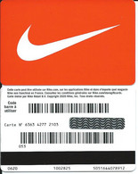CARTE CADEAU - NIKE Rouge -- - Gift Cards