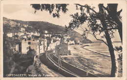 Cartolina Ospedaletti Veduta Da Ponente Ferrovia Anni '30 - Imperia