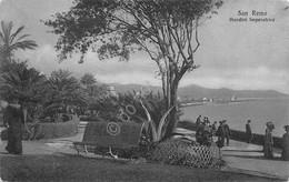 Cartolina Sanremo Giardini Imperatrice Animata Abiti D'epoca Anni '30 - Imperia