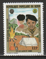 BENIN - N°661 ** (1988) Scoutisme - Benin – Dahomey (1960-...)