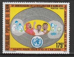 BENIN - N°662 ** (1988) OMS - Benin – Dahomey (1960-...)