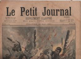 LE PETIT JOURNAL 16 05 1897 - INCENDIE DU BAZAR DE LA CHARITE - WATERLOO - 1850 - 1899