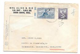 SUR  LETTRE. DES USA .OTAN...  POUR MADAGASCAR. 1953 - America Centrale