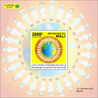 MALI 2020 - SOUVENIR SHEET 1V - JOINT ISSUE - STRUGGLE AGAINST COVID-19 PANDEMIC PANDEMIE CORONA CORONAVIRUS - RARE MNH - Emisiones Comunes