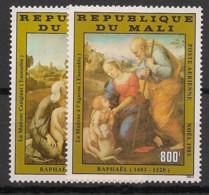 Mali - 1983 - Poste Aérienne PA N°Yv. 480 à 481 - Noel / Raphael - Neuf Luxe ** / MNH / Postfrisch - Mali (1959-...)