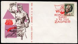 Yugoslavia Croatia Zagreb 1968 / 6th Congress Of The League Of Communists Of Croatia / SKH - Covers & Documents