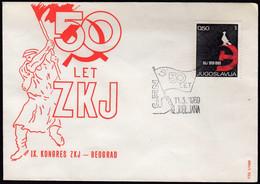 Yugoslavia Slovenia Ljubljana 1969 / 50 Years Of ZKJ, SKJ, Communist Party Of Yugoslavia Congress Belgrade - Covers & Documents