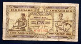 Banconota Jugoslavia 100 Dinari  1946 (circolata) - Jugoslawien