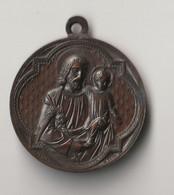 Médaille En Pendentif - Bronze - L.PENIN à LYON - Religión & Esoterismo