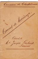 Commune De Châtelineau  Livret De Mar'iage - Collections