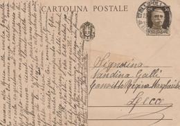 10215.  Cartolina Intero Postale Da Gallipoli Per Convitto Regina Margherita Di Lecce - 1938 - Entiers Postaux