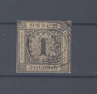 Baden Mi.Nr. 1b, 1 Kreuzer Freimarken 1851 Gestempelt (34984) - Baden
