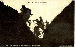 MILITARY - DAILY MAIL BATTLE PICTURES - 70 BRITISH INFANTRY PRACTISING AN ATTACK - Guerra 1914-18