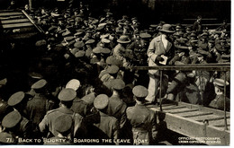 """MILITARY - DAILY MAIL BATTLE PICTURES - 71 """"BACK TO BLIGHTY"""" BOARDING THE LEAVE BOAT - Guerra 1914-18"""