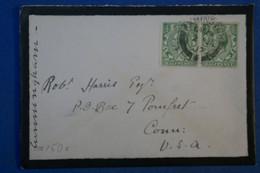 H14 GRANDE BRETAGNE BELLE LETTRE 1907 AXMINSTER POUR USA+ BELLE PAIRE DE T.P + AFFRANCHISSEMENT INTERESSANT - Briefe U. Dokumente
