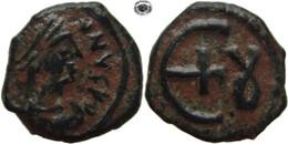 LaZooRo: Byzantine Empire - AE Pentanummium Of Justinian I (527-565 AD), Theoupolis - Bizantine