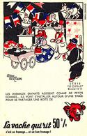 BU 2110 /   BUVARD-   LA VACHE QUI RIT  SERIE LE  CIRQUE    LES ANIMAUX SAVANTS    ( 21,00 Cm X 13,50 Cm ) - Dairy