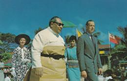Tonga, Royalty King Tupou IV During Coronation Week With Duke Of Kent, C1960s Vintage Postcard - Tonga