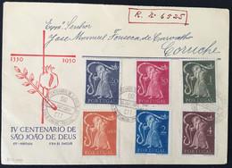 IV Centanario De Sào Joào De Deus. 30 Out. 1950. FDC. - Lettere
