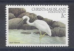 """CHRISTMAS Is.....QUEEN ELIZABETH II....(1952-NOW..)...""""..1982..""""....REEF HERON.....1c.......SG152........MNH.... - Albatros & Stormvogels"""