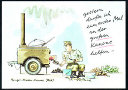 E5038 - LuSo Humor Scherzkarte - HAK Hunger Abwehr Kanone - Armee Soldat Kaserne - Wortmann - Humor