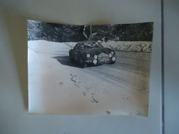 Photo De Presse - ALPINE RENAULT A110 # 43 - RALLYE MONTE CARLO 1968 - GERARD LARROUSSE - Cars