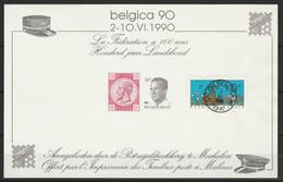 Belgie Belgica 90 LaFédératoin  A 100 Ans 100 Jaar Landsbond - Black-and-white Panes