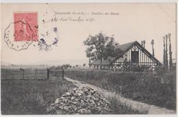 CPA Gargenville (78) Pavillon Des Haras    Cachet Ambulant Mantes à Paris  Envoi Pontoise   Ed Bourdier - Gargenville