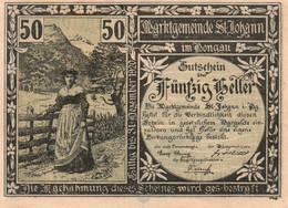 AUSTRIA NOTGELD- Österreich-50 Heller 1920-   St. Johann Im Pongau - Austria