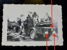 GERMAN Photo WW2 WWII ARCHIVE : Elite WAFFEN Camo Av VEHICULE 4x4 - Guerra, Militares