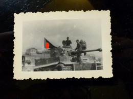 GERMAN Photo WW2 WWII ARCHIVE : TANKISTES Sur Char Panzer TIGRE - Guerra, Militares