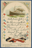 Flaggensignale Dampfschiff, Gelaufen 1899 (AK3768) - Passagiersschepen