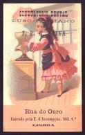 Cartão Publicidade CONSULTORIO DENTAL Rua Do Ouro LISBOA. Old Victorian Trade Card VTC Chromo Portugal 1880 - Sonstige