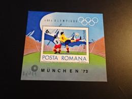 K45418-  Bloc  MNh Romania 1972  - Worldcup  Football Munich 1974 - 1974 – West-Duitsland