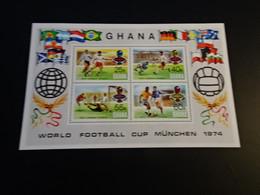 M10985 -   Bloc MNH Ghana 1974 - World Football Cup Munchen - 1974 – West-Duitsland