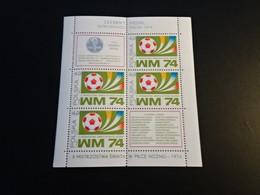 M10990 -   Bloc   MNh Poland  - Polska   1974 -  Worldcup Football Munich - 1974 – West-Duitsland