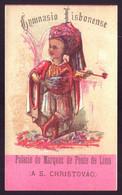 1870s Cartão Publicidade GYMNASIO LISBONENSE Palacio Do Marquez Ponte De Lima (A S.Christovão) LISBOA Portugal - Sonstige