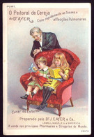 Cartão Publicidade REMEDIO.Old Litho Advertising AYER Pharmacy Remedy VTC Children Dolls Victorian Trade Card PORTUGAL - Sonstige